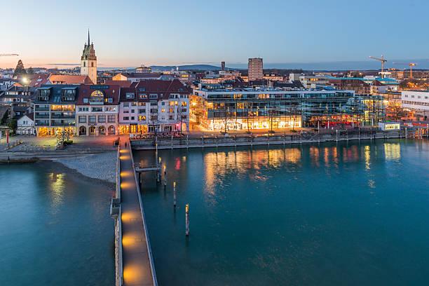 Harbor in Friedrichshafen stock photo
