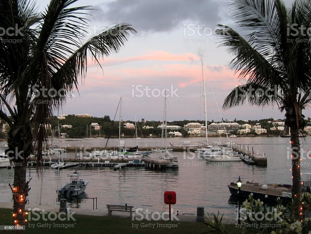Harbor in Hamilton Bermuda stock photo