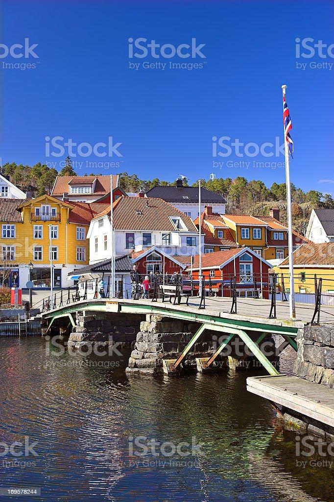 Harbor in Krageoe, Norway royalty-free stock photo