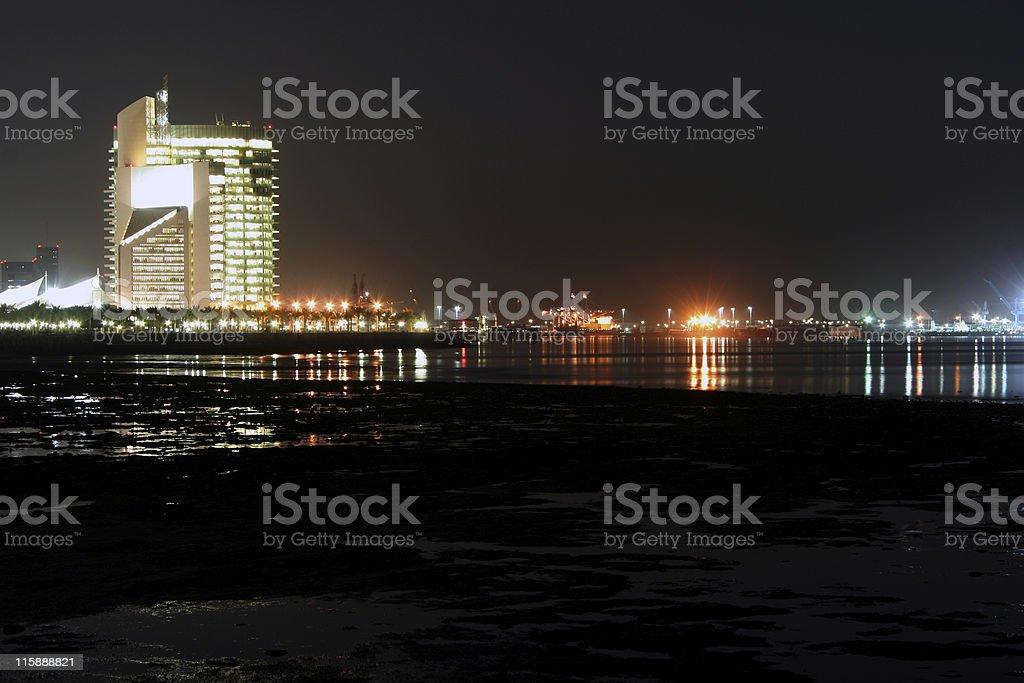 harbor in kuwait royalty-free stock photo