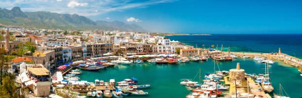 Harbor in Kyrenia. Cyprus stock photo