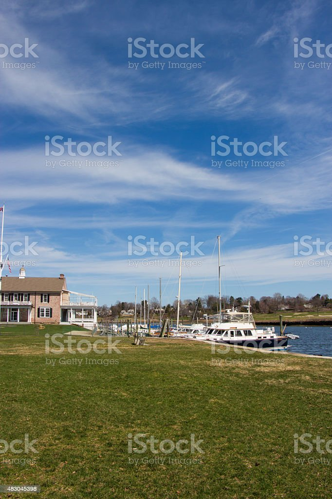 Harbor in Southport, Connecticut stock photo