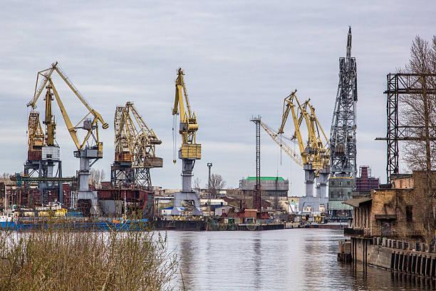 Harbor in St Petersburg stock photo