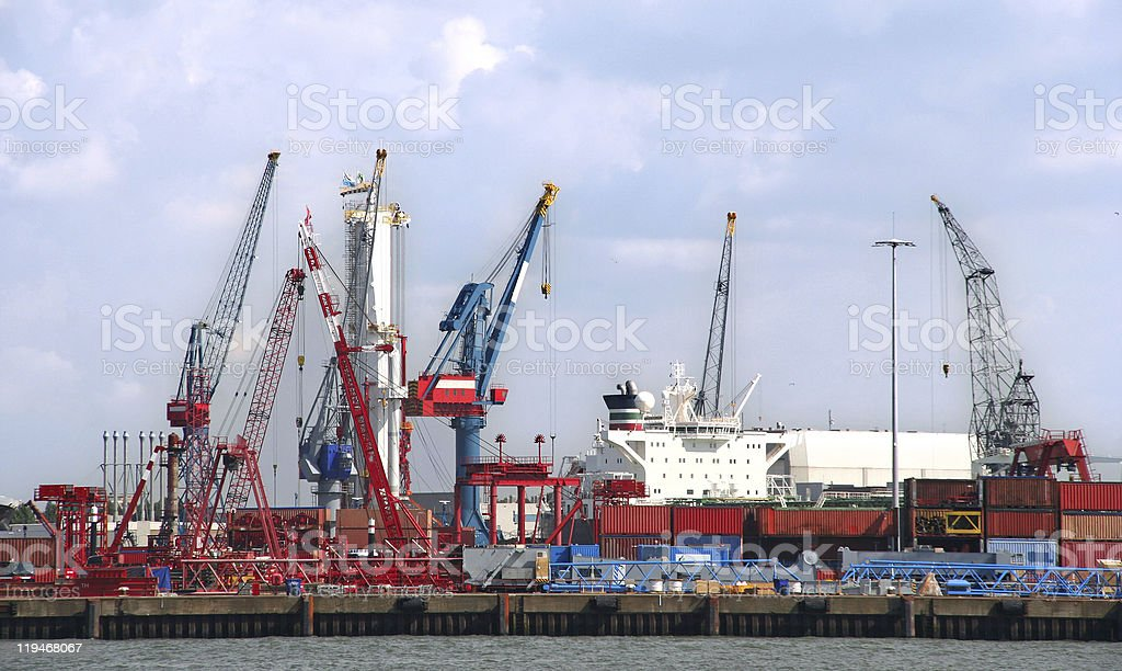 Harbor Industry royalty-free stock photo