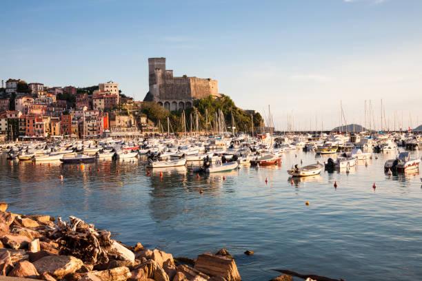 harbor, lerici, italy - la spezia foto e immagini stock