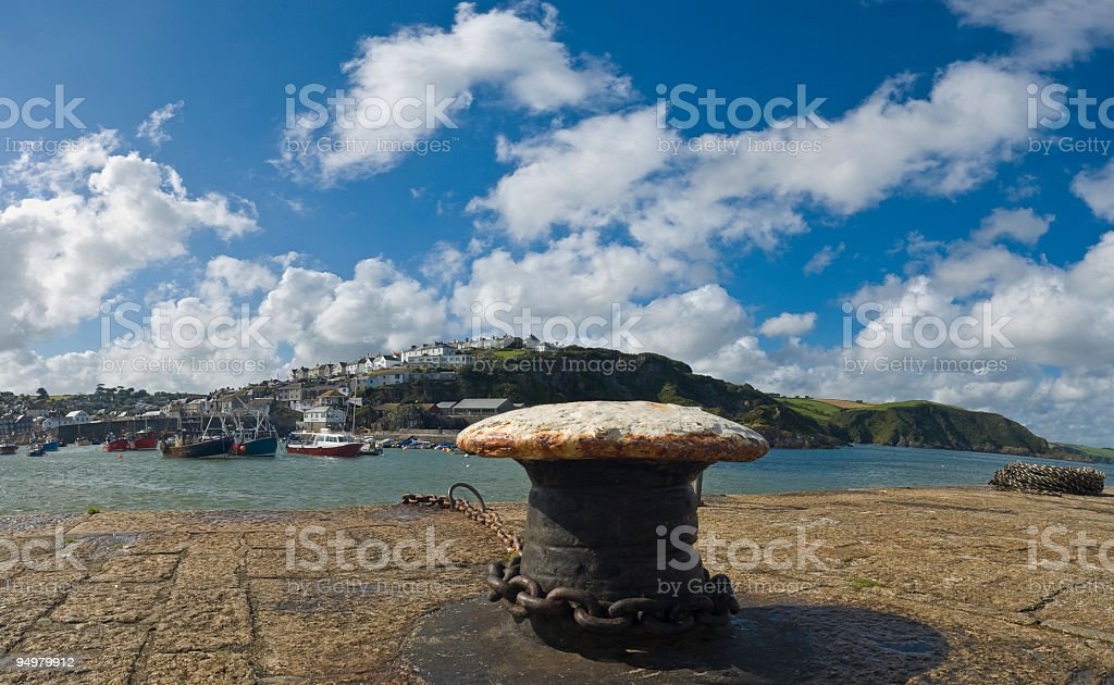 Harbor mooring royalty-free stock photo