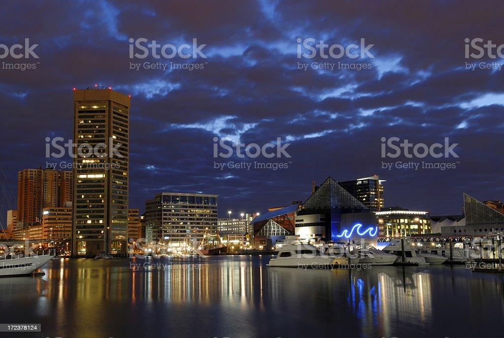 Harbor Night royalty-free stock photo