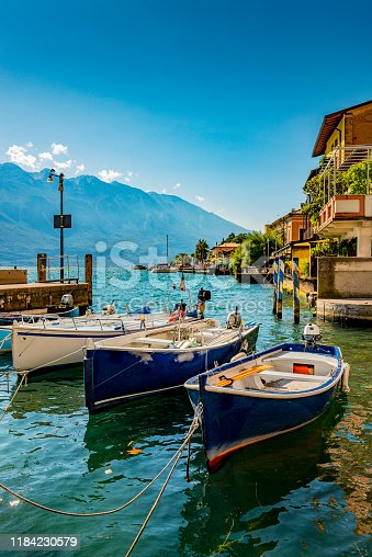 harbor of Limone in Italy