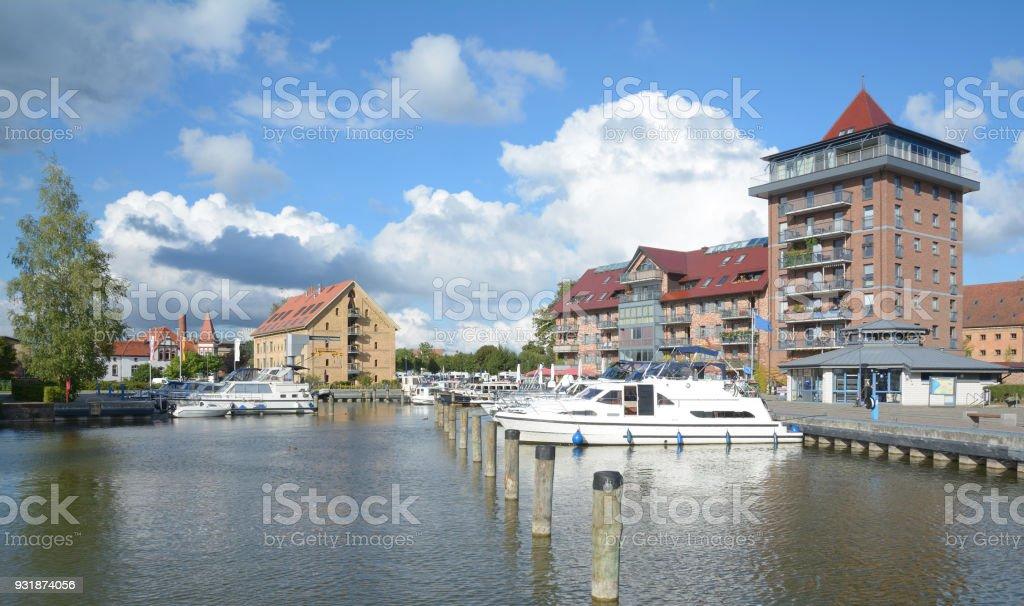 Harbor of Neustrelitz,Mecklenburg Lake district,Germany stock photo