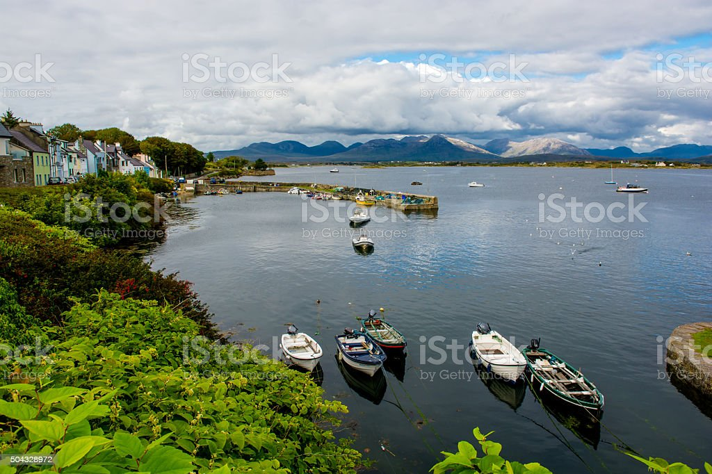 Harbor Of Roundstone In Ireland stock photo