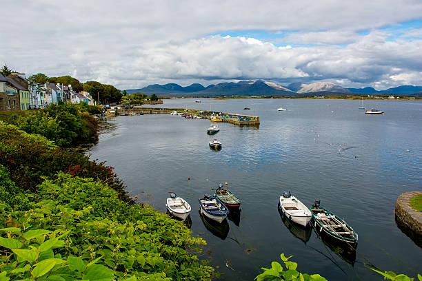 Harbor Of Roundstone In Ireland stock photo