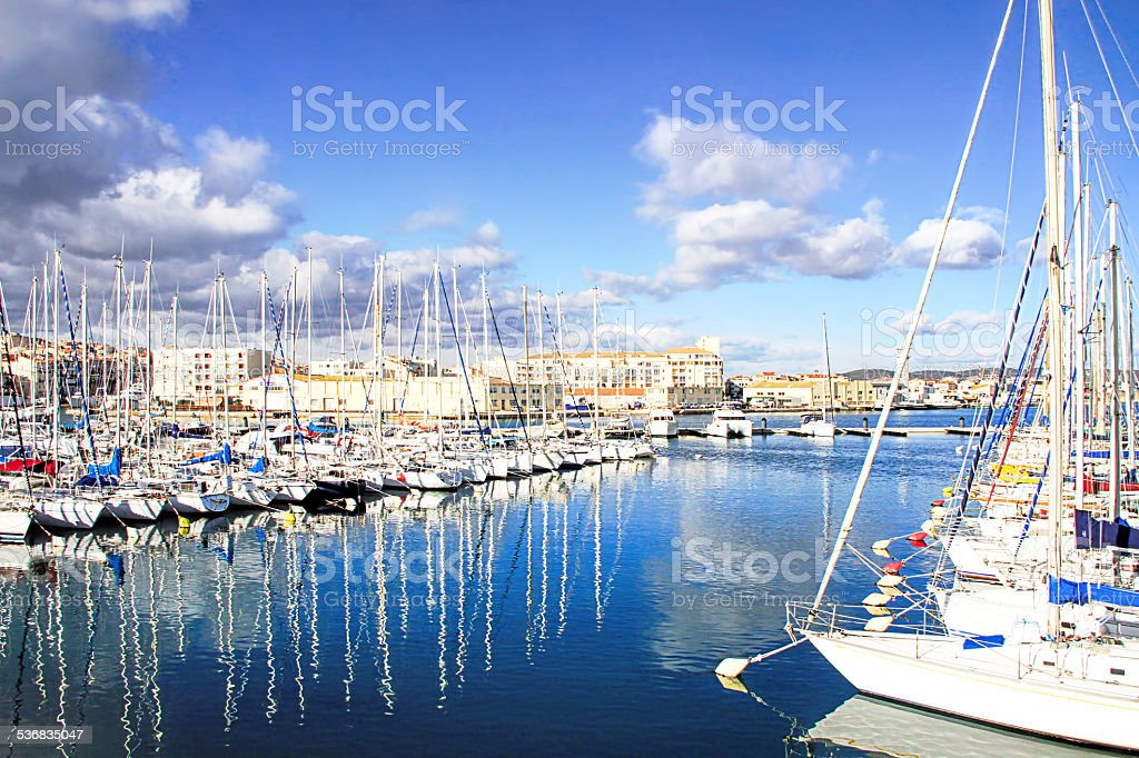 Harbor of Sete, Languedoc, - south of France stock photo