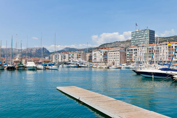 Harbor of Toulon, France stock photo