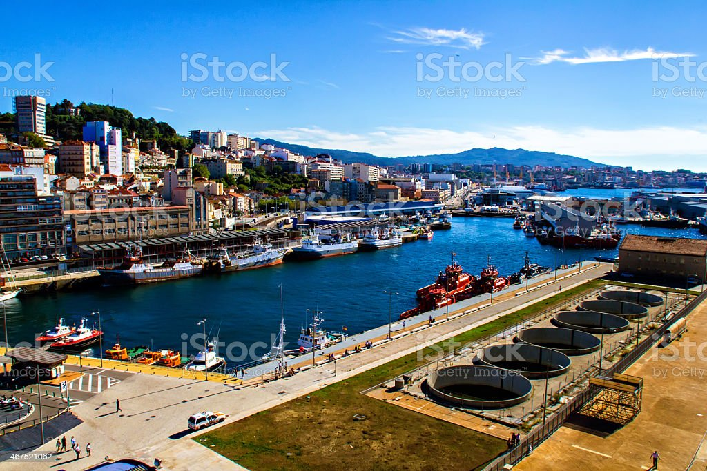 Harbor of Vigo stock photo