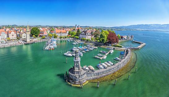 Harbor on Lake Constance in Lindau, Germany
