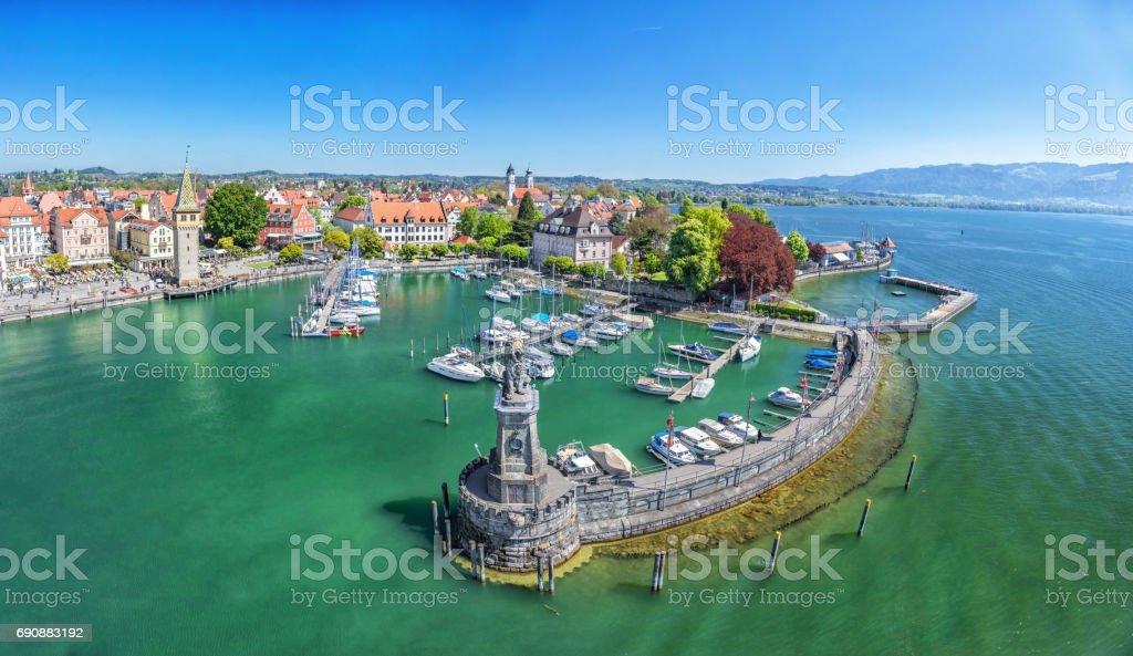 Hafen am Bodensee in Lindau, Deutschland – Foto