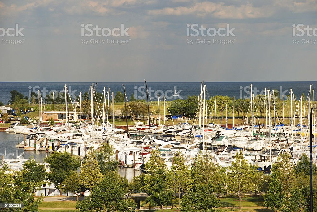 Harbor stock photo