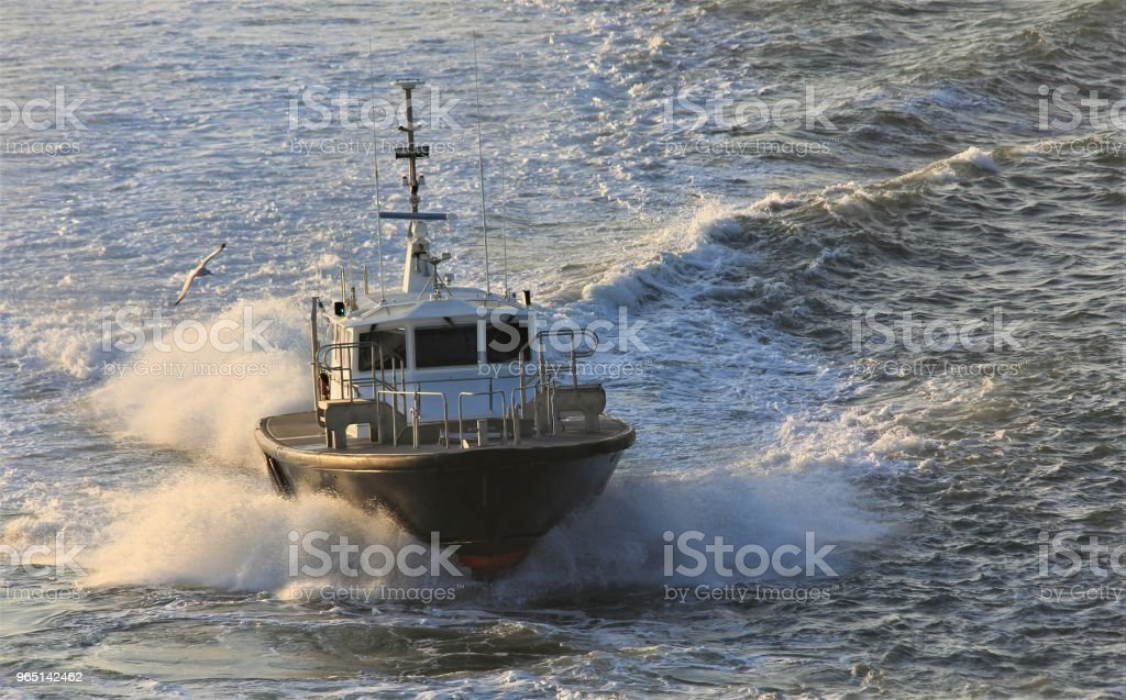 Harbor Pilot Boat royalty-free stock photo