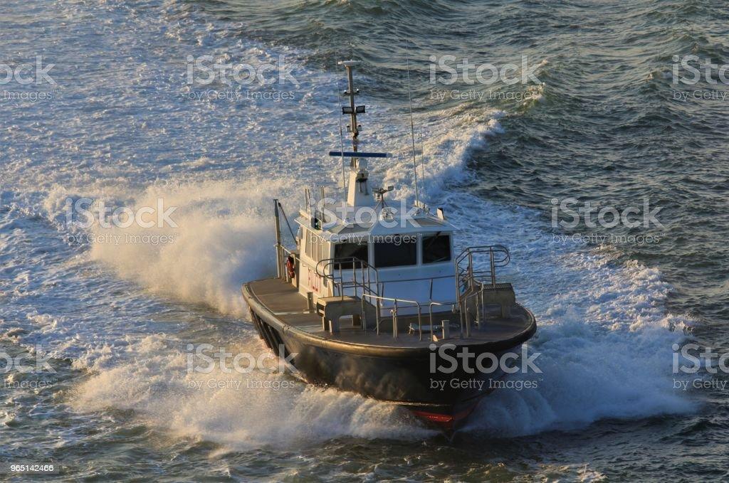 Harbor Pilot Boat zbiór zdjęć royalty-free