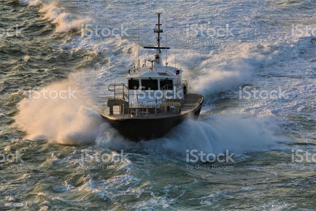 Harbor Pilot Boat royalty-free stock photo