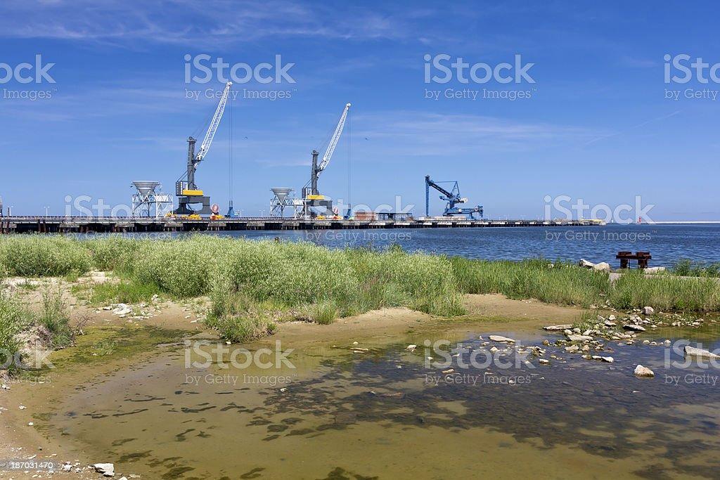 Harbor scenery royalty-free stock photo