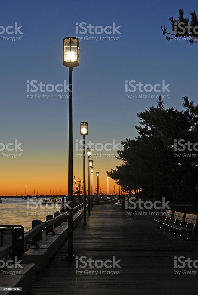 Harbor Sunrise royalty-free stock photo