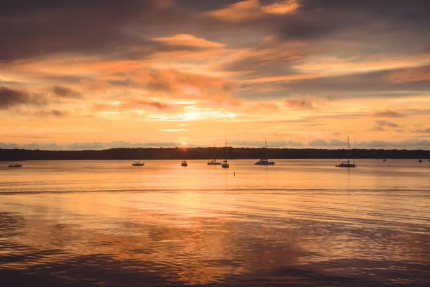 Harbor Sunset stock photo