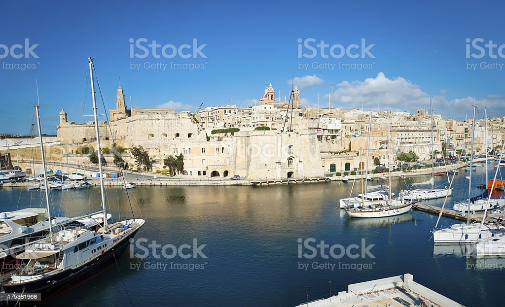 Harbor View of the City royalty-free stock photo