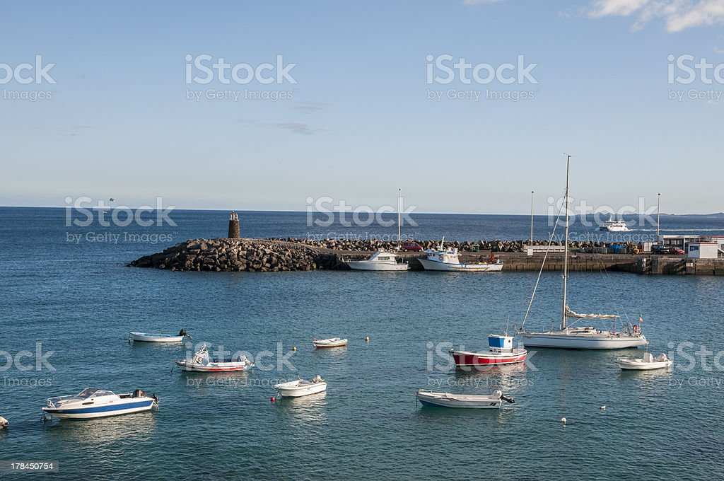 harbor with boats royalty-free stock photo