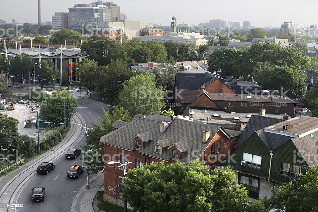 Harbord Village, Spadina Avenue, Toronto, Ontario, Canada in Summer stock photo