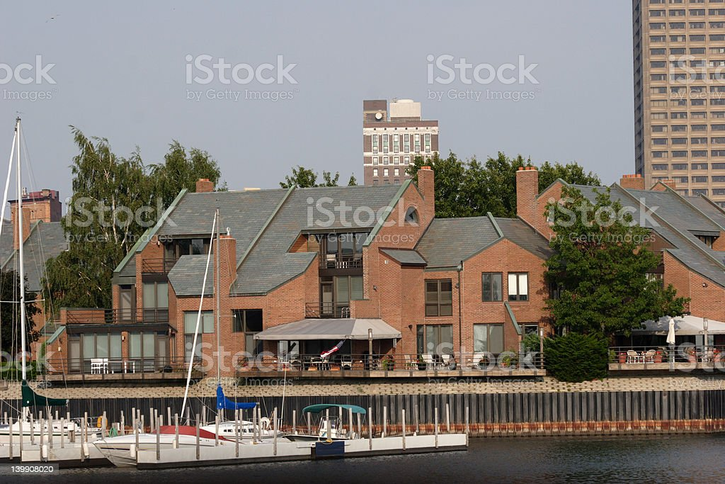 Harborfront Living royalty-free stock photo