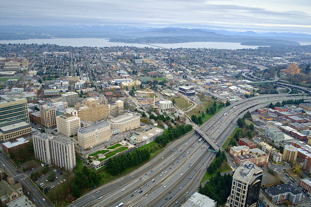 Harborview Medical Center, Seattle, WA stock photo