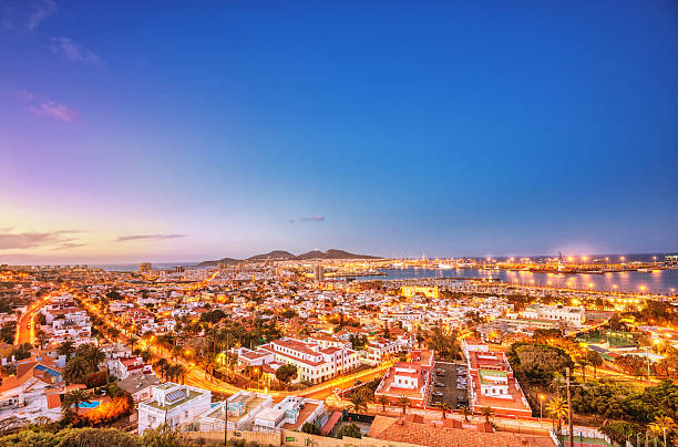 Harbour and Cityscape of Las Palmas de Gran Canaria stock photo