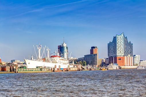 Harbour and Elbphilharmonie in Hamburg
