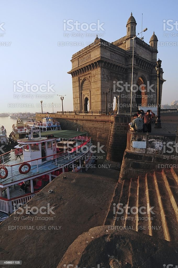 Harbour and Gateway royalty-free stock photo