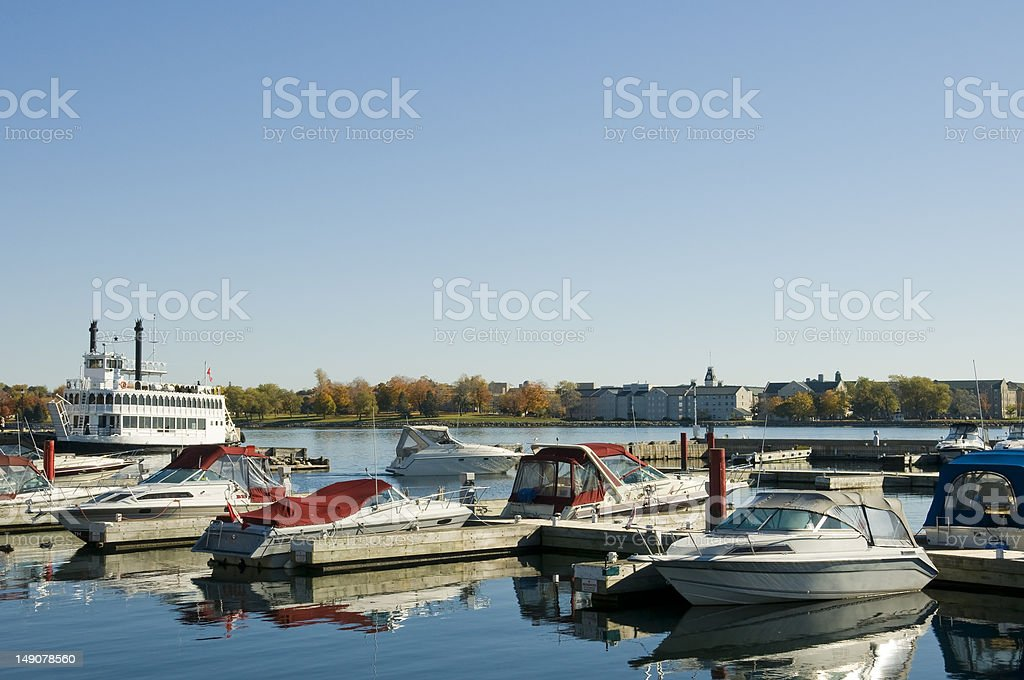 harbour and pleasure boats royalty-free stock photo