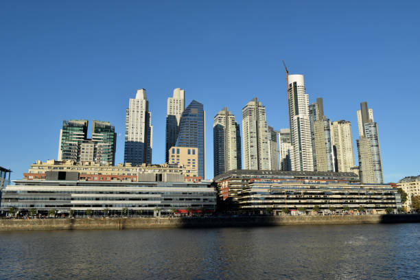 harbour and skyline of Puerto Madero, Buenos Aires, Argentina stock photo