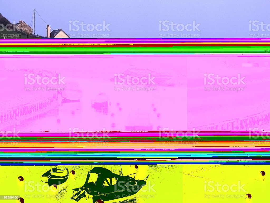 Harbour a Axmouth, Devon, Inghilterra foto stock royalty-free
