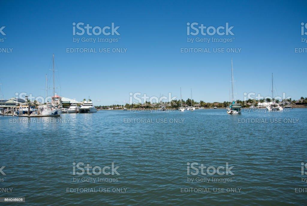 Harbour at Port Denarau stock photo