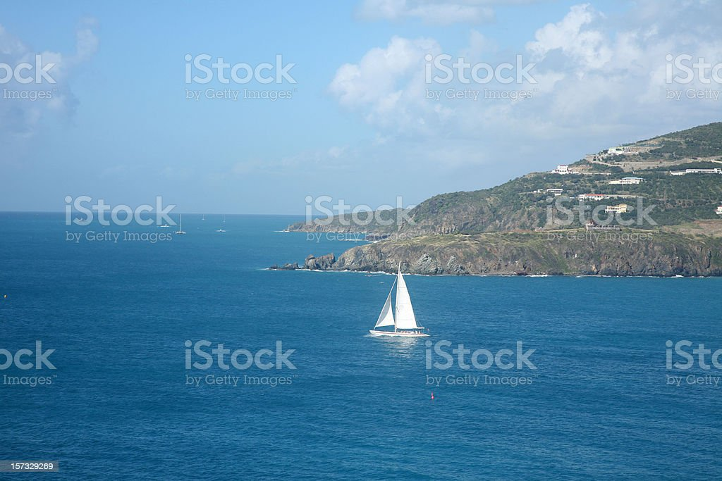 Harbour At St. Thomas, Virgin Islands royalty-free stock photo