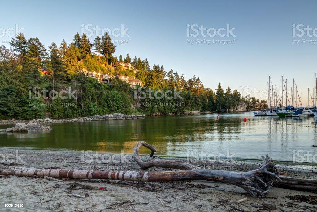 Harbour bij zonsondergang - Royalty-free Avondschemering Stockfoto