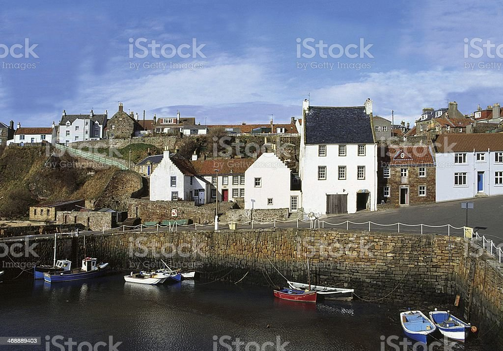 Harbour at the Village of Crail, Fife stock photo