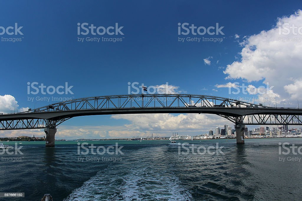 Harbour Bridge Auckland stock photo
