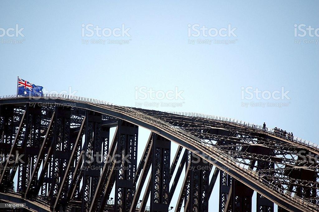 Harbour Bridge climb royalty-free stock photo