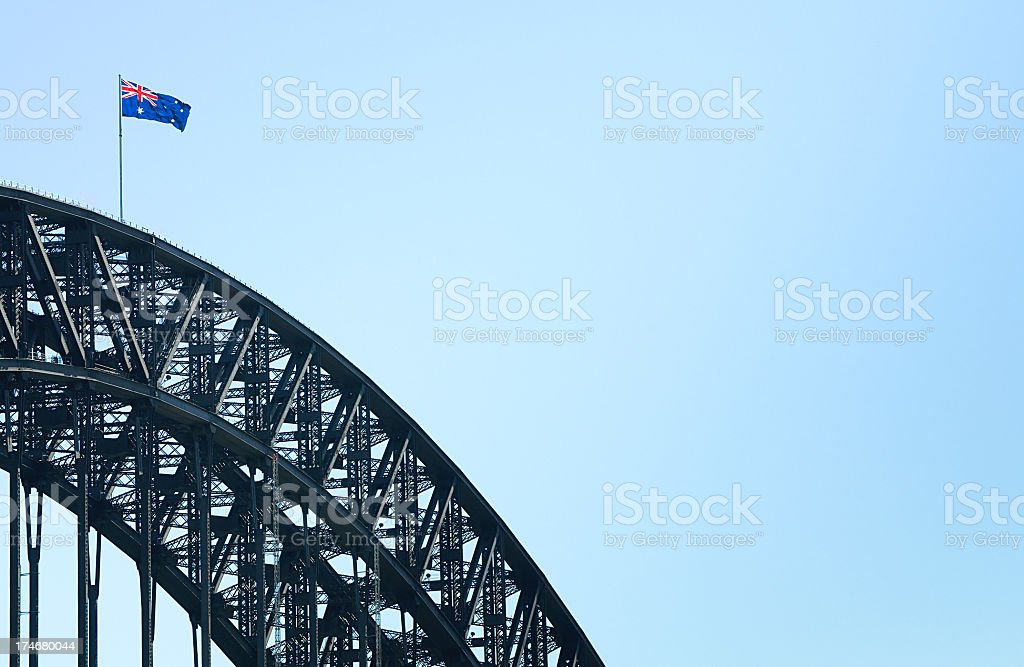 Harbour Bridge Flag royalty-free stock photo