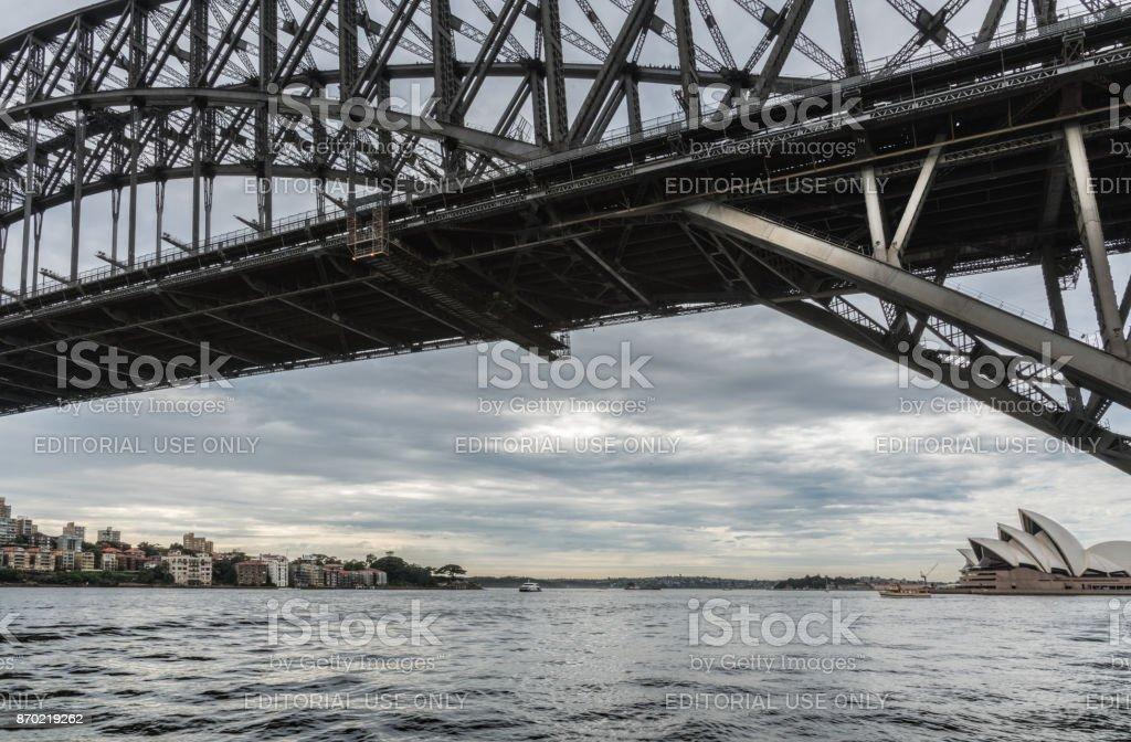 Harbour Bridge, Opera House and Kirribilli, Sydney Australia. stock photo