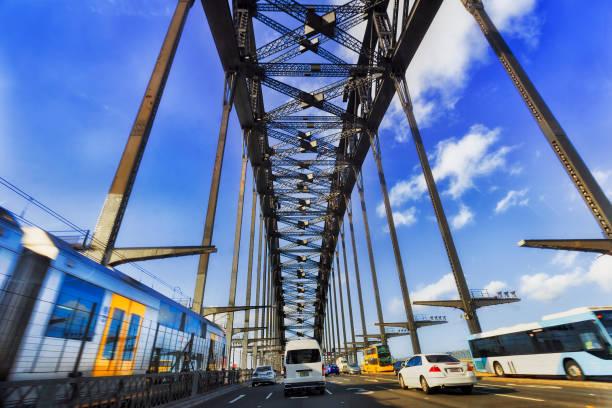 公路港橋列車巴士 - 鐵路運輸 運輸 個照片及圖片檔