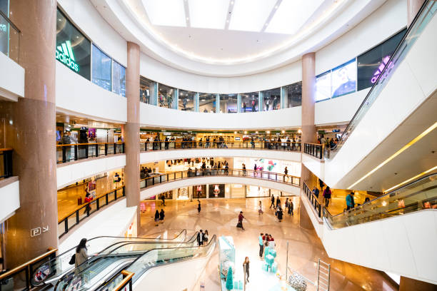 harbour city, hong kong shopping mall - shopping mall stock photos and pictures