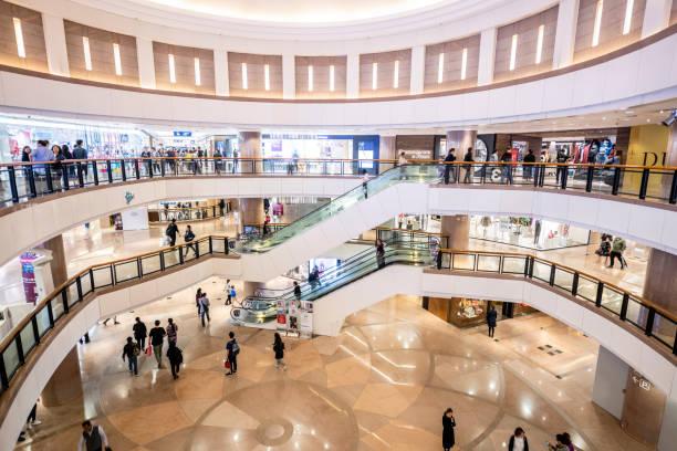 Harbour City Mall, Hong Kong stock photo