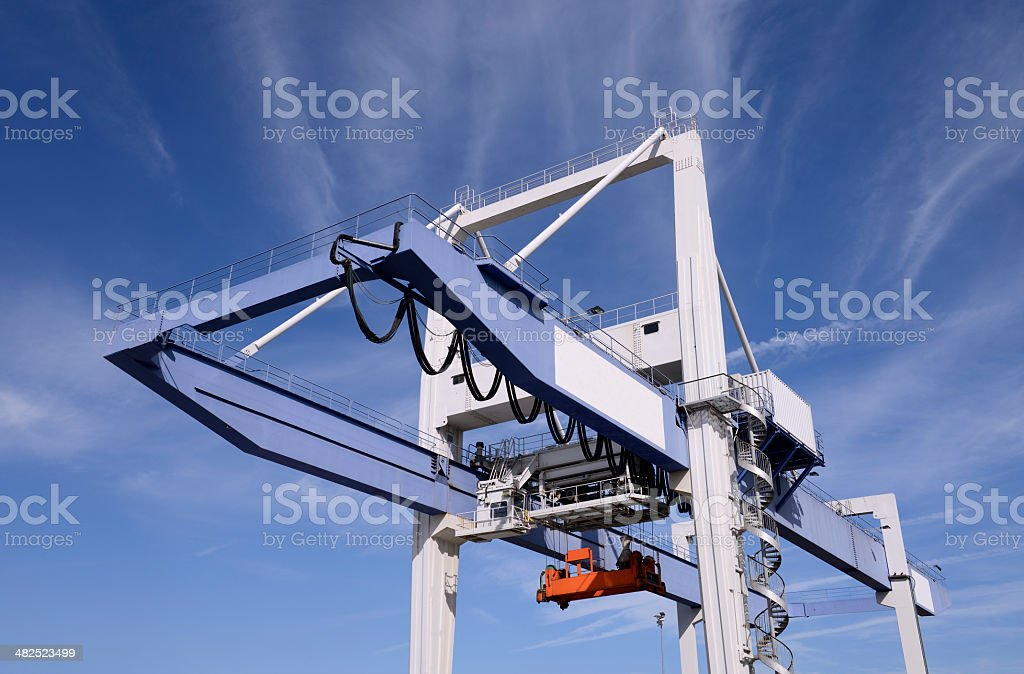 Harbour crane / cargo container terminal royalty-free stock photo